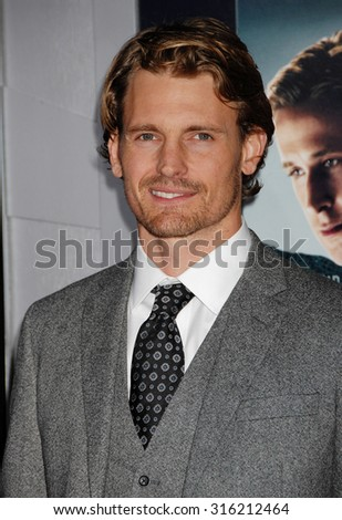 LOS ANGELES - OCT 4:  Josh Pence arrives at the Gangster Squad World Premiere  on January 7, 2013 in Hollywood, CA              - stock photo