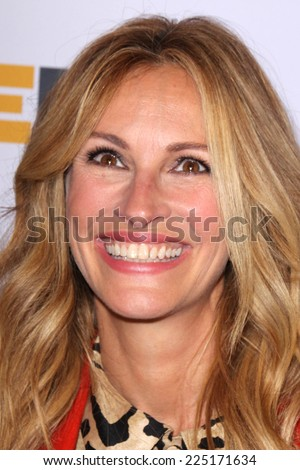 LOS ANGELES - OCT 17:  Julia Roberts at the 10th Annual GLSEN Respect Awards at Regent Beverly Wilshire on October 17, 2014 in Beverly Hills, CA - stock photo