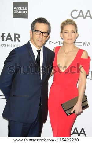 LOS ANGELES - OCT 11: Kate Hudson, Kenneth Cole at amfAR's Inspiration Gala at Milk Studios on October 11, 2012 in Los Angeles, California. - stock photo