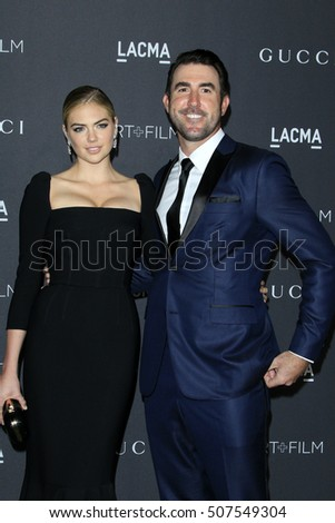 LOS ANGELES - OCT 29:  Kate Upton, Justin Verlander at the 2016 LACMA Art + Film Gala at Los Angeels Country Museum of Art on October 29, 2016 in Los Angeles, CA