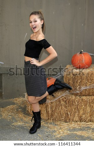 LOS ANGELES - OCT 21: Kelli Berglund at the Camp Ronald McDonald for Good Times 20th Annual Halloween Carnival at the Universal Studios Backlot on October 21, 2012 in Los Angeles, California - stock photo
