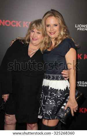 """LOS ANGELES - OCT 7:  Kelly Preston at the """"Knock Knock"""" Los Angeles Premiere at the TCL Chinese 6 Theaters on October 7, 2015 in Los Angeles, CA - stock photo"""