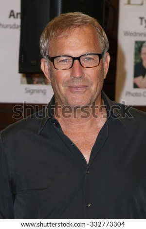 """LOS ANGELES - OCT 27:  Kevin Costner at the Kevin Costner Signs """"The Explorers Guild: Volume One"""" at the Barnes and Noble on October 27, 2015 in Los Angeles, CA - stock photo"""