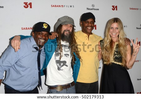 "LOS ANGELES - OCT 20:  Kevin Jackson, Rob Zombie, Lawrence Hilton-Jacobs, Sheri Moon Zombie at the Special Screening of ""31"" at London Hotel on October 20, 2016 in West Hollywood, CA"