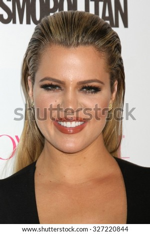 LOS ANGELES - OCT 12:  Khloe Kardashian at the Cosmopolitan Magazine's 50th Anniversary Party at the Ysabel on October 12, 2015 in Los Angeles, CA - stock photo