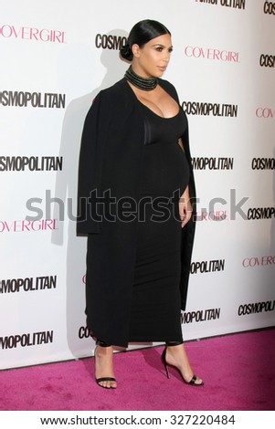 LOS ANGELES - OCT 12:  Kim Kardashian West at the Cosmopolitan Magazine's 50th Anniversary Party at the Ysabel on October 12, 2015 in Los Angeles, CA - stock photo