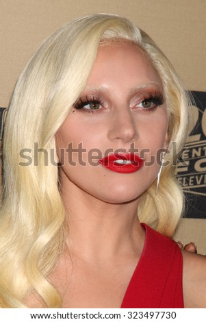 """LOS ANGELES - OCT 3:  Lady Gaga at the """"American Horror Story: Hotel"""" Premiere Screening at the Regal 14 Theaters on October 3, 2015 in Los Angeles, CA - stock photo"""