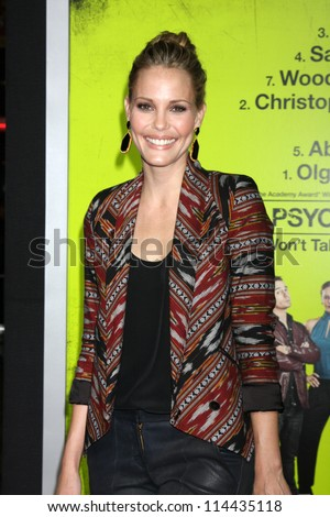 "LOS ANGELES - OCT 30:  Leslie Bibb  at the ""Seven Psychopaths"" Premiere at Bruin Theater on October 30, 2012 in Westwood, CA - stock photo"