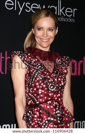 "LOS ANGELES - OCT 26:  Leslie Mann arrives at ""The Pink Party '12"" at Hanger 8 on October 26, 2012 in Santa Monica, CA - stock photo"
