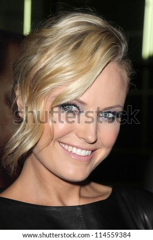 """LOS ANGELES - OCT 2:  Malin Akerman arrives at the """"Nobody Walks"""" - Los Angeles Premiere at ArcLight Hollywood on October 2, 2012 in Los Angeles, CA - stock photo"""