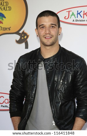 LOS ANGELES - OCT 21: Mark Ballas at the Camp Ronald McDonald for Good Times 20th Annual Halloween Carnival at the Universal Studios Backlot on October 21, 2012 in Los Angeles, California - stock photo