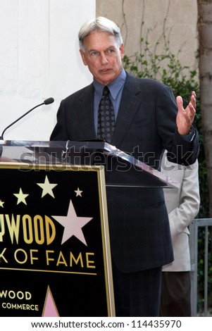 LOS ANGELES - OCT 30:  Mark Harmon at the Hollywood Walk of Fame Ceremony for Mark Harmon at Hollywood & Vine on October 30, 2012 in Los Angeles, CA - stock photo