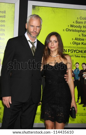 "LOS ANGELES - OCT 30:  Martin McDonagh  at the ""Seven Psychopaths"" Premiere at Bruin Theater on October 30, 2012 in Westwood, CA - stock photo"