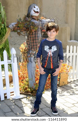 LOS ANGELES - OCT 21: Mason Cook at the Camp Ronald McDonald for Good Times 20th Annual Halloween Carnival at the Universal Studios Backlot on October 21, 2012 in Los Angeles, California - stock photo