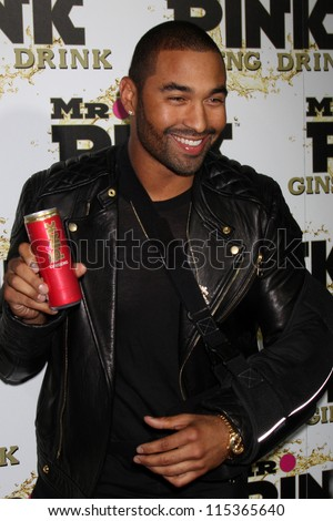 "LOS ANGELES - OCT 11:  Matt Kemp arrives at the ""Mr. Pink"" Energy Drink Launch at Beverly Wilshire Hotel on October 11, 2012 in Beverly Hills, CA - stock photo"
