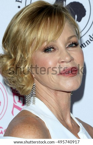 "LOS ANGELES - OCT 8:  Melanie Griffith, note tattoo of ""Antonio"" almost gone! at the 2016 Carousel Of Hope Ball at the Beverly Hilton Hotel on October 8, 2016 in Beverly Hills, CA"