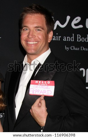 "LOS ANGELES - OCT 26:  Michael Weatherly arrives at ""The Pink Party '12"" at Hanger 8 on October 26, 2012 in Santa Monica, CA"