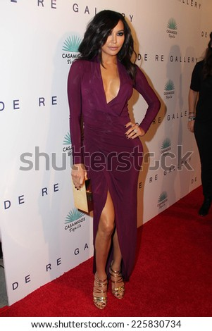 """LOS ANGELES - OCT 23:  Naya Rivera at the De Re Gallery & Casamigos Host The Opening Brian Bowen Smith's """"Wildlife"""" Show at De Re Gallery on October 23, 2014 in West Hollywood, CA - stock photo"""