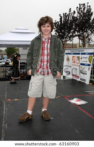 "LOS ANGELES - OCT 16:  Nolan Gould at the Habitat for Humanity San Fernando/Santa Clarita Valley's ""American Dream Walk""  at Pacoima Plaza on October 16, 2010 in Pacoima, CA - stock photo"