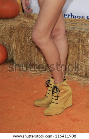 LOS ANGELES - OCT 21: Peyton List at the Camp Ronald McDonald for Good Times 20th Annual Halloween Carnival at the Universal Studios Backlot on October 21, 2012 in Los Angeles, California - stock photo