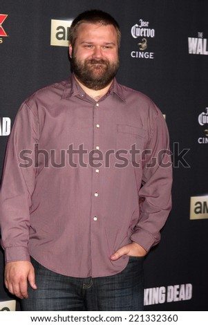 "LOS ANGELES - OCT 2:  Robert Kirkman at the ""The Walking Dead"" Season 5 Premiere at Universal City Walk on October 2, 2014 in Los Angeles, CA - stock photo"