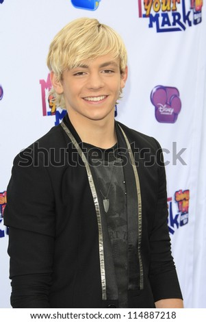 LOS ANGELES - OCT 6: Ross Lynch at the 'Make Your Mark: Shake It Up Dance Off 2012' at LA Center Studios on October 6, 2012 in Los Angeles, California - stock photo