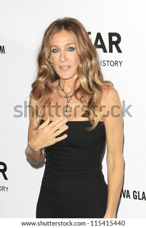 LOS ANGELES - OCT 11: Sarah Jessica Parker at amfAR's Inspiration Gala at Milk Studios on October 11, 2012 in Los Angeles, California. - stock photo
