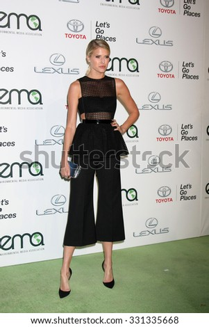 LOS ANGELES - OCT 24:  Sarah Wright Olsen at the Environmental Media Awards 2015 at the Warner Brothers Studio Lot on October 24, 2015 in Burbank, CA - stock photo