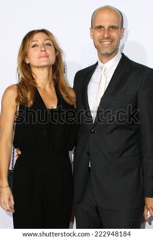 LOS ANGELES - OCT 11:  Sasha Alexander, Edoardo Ponti at the Ferrari Celebrates 60 Years In America  at Wallis Annenberg Center for Performing Arts on October 11, 2014 in Beverly Hills, CA - stock photo