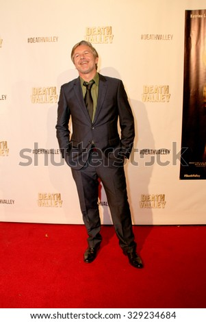 """LOS ANGELES- OCT 17: Sean Cameron Michael arrives at the """"Death Valley"""" film premiere Oct. 17, 2015 at Raleigh Studios in Los Angeles, CA. - stock photo"""