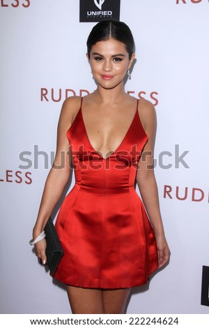 "LOS ANGELES - OCT 7:  Selena Gomez at the ""Rudderless"" Premiere at Vista Theater on October 7, 2014 in Los Angeles, CA - stock photo"