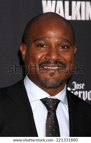 "LOS ANGELES - OCT 2:  Seth Gilliam at the ""The Walking Dead"" Season 5 Premiere at Universal City Walk on October 2, 2014 in Los Angeles, CA - stock photo"