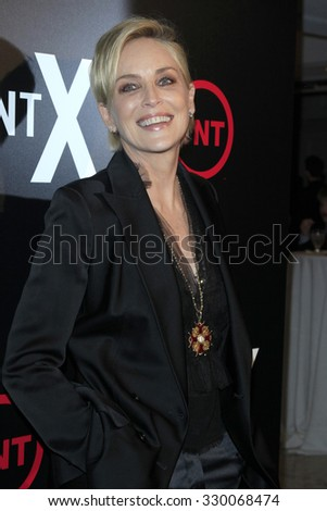 """LOS ANGELES - OCT 20:  Sharon Stone at the TNT's """"Agent X"""" Premiere Screening at the London Hotel on October 20, 2015 in West Hollywood, CA - stock photo"""