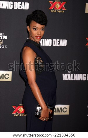 "LOS ANGELES - OCT 2:  Sonequa Martin-Green at the ""The Walking Dead"" Season 5 Premiere at Universal City Walk on October 2, 2014 in Los Angeles, CA - stock photo"