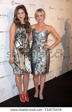 LOS ANGELES - OCT 17:  Sophia Bush, Brittany Snow arrives at  3rd Annual Autumn Party with designer J Mendel at The London West Hollywood on October 17, 2012 in West Hollywood, CA - stock photo
