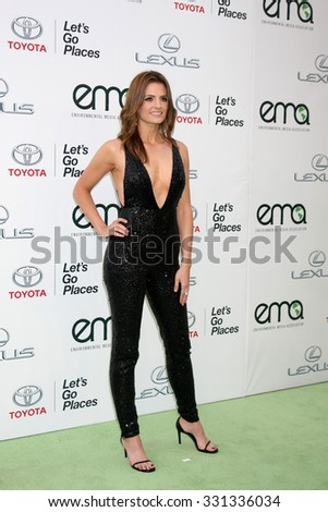 LOS ANGELES - OCT 24:  Stana Katic at the Environmental Media Awards 2015 at the Warner Brothers Studio Lot on October 24, 2015 in Burbank, CA - stock photo