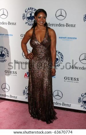 LOS ANGELES - OCT 23:  Tamela Jones arrives at the 2010 Carousel of Hope Ball at Beverly Hilton Hotel on October 23, 2010 in Beverly Hills, CA