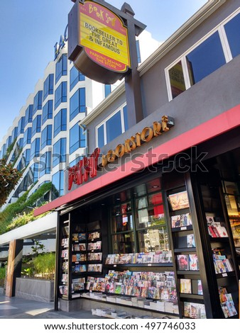 LOS ANGELES, OCT 7TH 2016: Book Soup, a bookstore on the famous Sunset Strip frequented by many in the entertainment industry. They often host events featuring celebrity authors, such as Muhammad Ali.