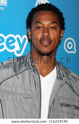 LOS ANGELES - OCT 20:  Wesley Jonathan arrives at  the Qubeeys Chris Brown Channel Launch Event at Private Residence on October 20, 2012 in Beverly Hills, CA - stock photo