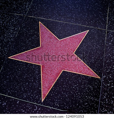 LOS ANGELES - OCTOBER 16: A blank star in Hollywood Walk of Fame on October 16, 2011 in Los Angeles, CA. There are more than 2,400 five-pointed stars which attract about 10 million visitors annually