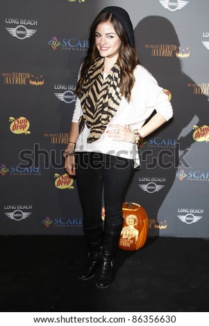 LOS ANGELES - OCTOBER 9: Lucy Hale at the 3rd annual LA Haunted Hayride on October 9, 2011 in Los Angeles, California.