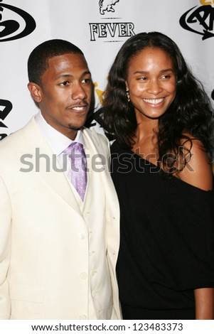 LOS ANGELES - OCTOBER 10: Nick Cannon and Joy Bryant at the birthday party for Nick Cannon and the opening of his flagship store for PNB Nation on October 10, 2006 at PNB Nation Store, Los Angeles, CA