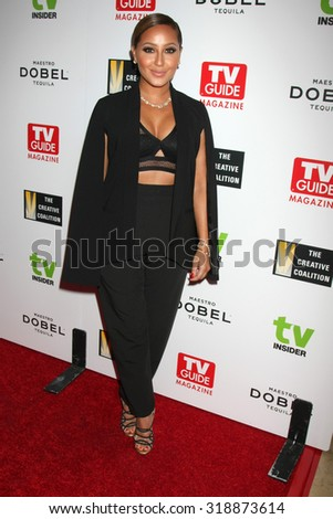 LOS ANGELES - SEP 18:  Adrienne Bailon at the TV Industry Advocacy Awards Gala at the Sunset Tower Hotel on September 18, 2015 in West Hollywood, CA - stock photo