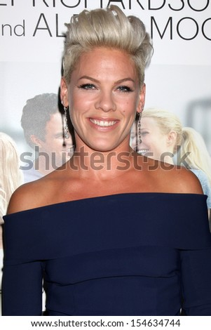 """LOS ANGELES - SEP 16:  Alecia Moore at the """"Thanks for Sharing"""" Premiere  at ArcLight Hollywood Theaters on September 16, 2013 in Los Angeles, CA - stock photo"""