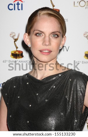 LOS ANGELES - SEP 20:  Anna Chlumsky at the Emmys Performers Nominee Reception at  Pacific Design Center on September 20, 2013 in West Hollywood, CA - stock photo