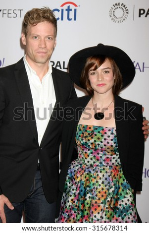 LOS ANGELES - SEP 11:  Barrett Foa, Renee Felice Smith at the PaleyFest 2015 Fall TV Preview - NCIS: Los Angeles at the Paley Center For Media on September 11, 2015 in Beverly Hills, CA - stock photo