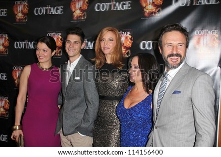 "LOS ANGELES - SEP 28:  Bellamy Young, Ken Baumann, Kristen Dalton, Bettina Tendler O'Mara, David Arquette arrives at the ""Cottage"" Premiere at The Academy on September 28, 2012 in Beverly Hills, CA"