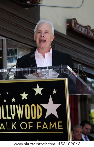 LOS ANGELES - SEP 4:  Christopher Guest at the Jane Lynch Hollywood Walk of Fame Star Ceremony on Hollywood Boulevard on September 4, 2013 in Los Angeles, CA