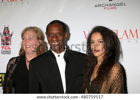 "LOS ANGELES - SEP 7:  Deborah Hartwell, Tim Russ, Madison Russ at the ""UNBELIEVABLE!!!!!"" Premiere at the TCL Chinese 6 Theaters on September 7, 2016 in Los Angeles, CA"