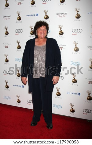 LOS ANGELES - SEP 21:  Dot-Marie Jones arrives at the Primetime Emmys Performers Nominee Reception at Spectra by Wolfgang Puck on September 21, 2012 in Los Angeles, CA - stock photo